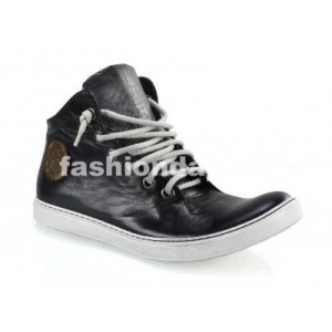 Pánske kožené športové topánky čierne