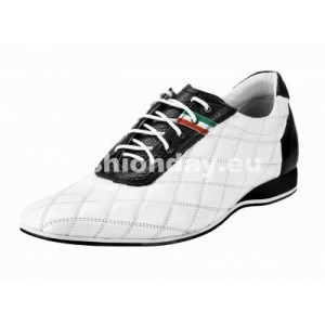 Pánske kožené športové topánky biele