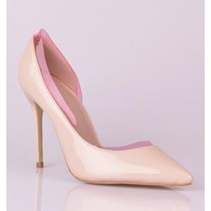 Elegantné dámske lodičky ružovej farby s vysokým podpätkom