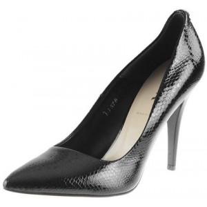 Elegantné dámske lodičky čiernej farby z kvalitnej prírodnej kože
