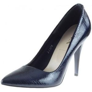 Luxusné dámske lodičky modrej farby s vysokým podpätkom