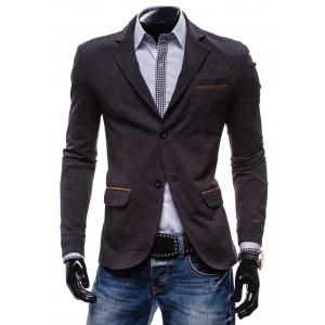 Elegantné pánske sako hnedej farby so zapínaním na gombíky