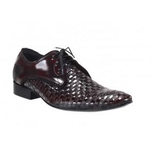 Pánske kvalitné kožené topánky za najlepšie ceny bordovej farby