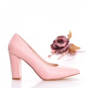 Dámske ružové lodičky na opätku