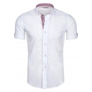 Pánska košeľa na voľný čas bielej farby