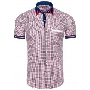 Štýlová pánska košeľa za skvelú cenu károvaná červená