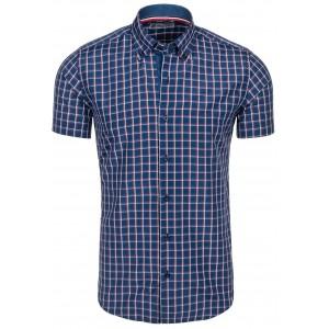 Tmavo modrá pánska košeľa na každú postavu