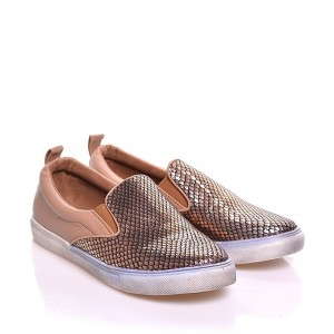 Dámska obuv na voľný čas v hnedej farbe