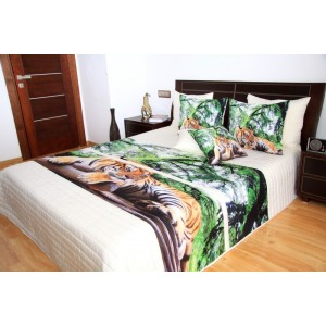 Prehoz na posteľ s obrazom tigra