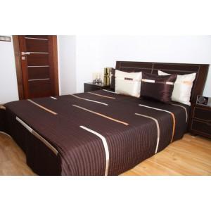 Prehoz na manželskú posteľ hnedej farby