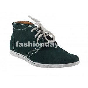 Pánske kožené topánky zelené