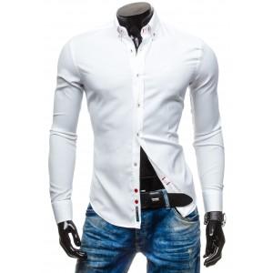Pánske biele košele s dlhým rukávom