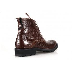 Pánske kožené topánky COMODO E SANO hnedej farby