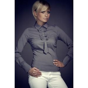 Formálna dámska košeľa sivej farby