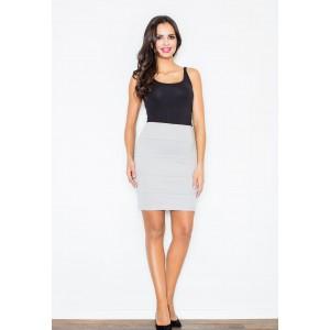 Dámska prešívaná sukňa sivej farby