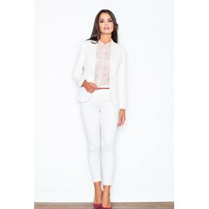 Dámske formálne sako bielej farby