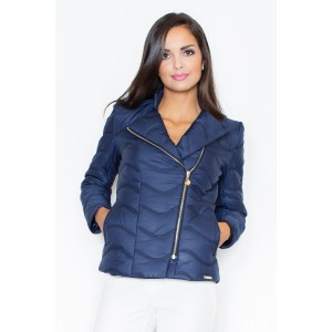Dámska jarná bunda tmavo modrej farby