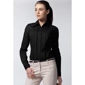 Elegantná dámska košeľa čiernej farby