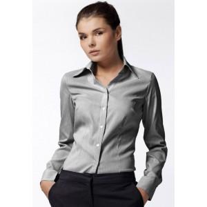 Dámska pásikavá košeľa sivej farby