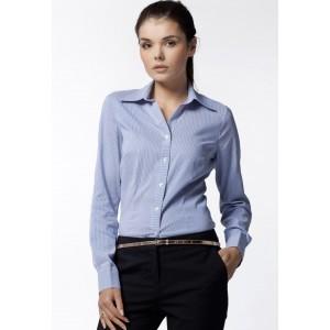 Modrá pásikavá košeľa pre dámy