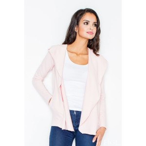 Dámsky ružový sveter s vreckami