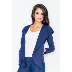 Dámsky voľný sveter modrej farby