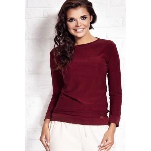 Bordový slávnostý dámsky sveter
