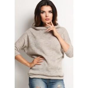 Dámsky pletený sveter béžovej farby