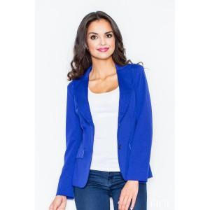 Dámske elegantné sako modrej farby