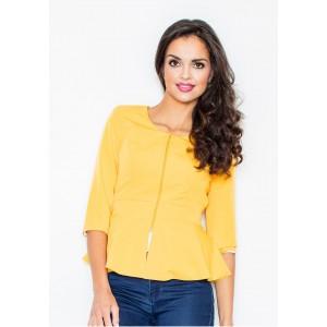 Žlté dámske sako na zips