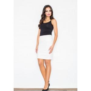 Biela dámska sukňa s pruhmi