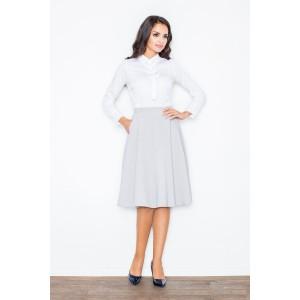 Sivá dámska elegantná sukňa