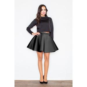 Čierna dámska  elegantná sukňa