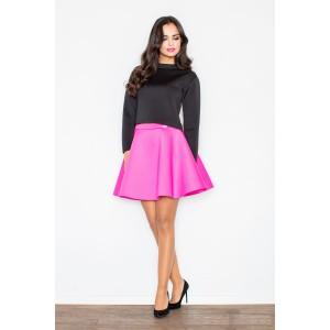 Tmavo ružová spoločenská dámska sukňa