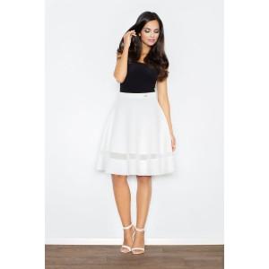 Elegantné biele sukne s priesvitným pruhom