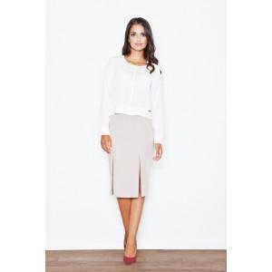 Formálna dámska sukňa béžovej farby
