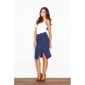Elegantná dámska sukňa v modrej farbe