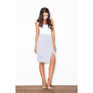 Sivá dámska formálna sukňa