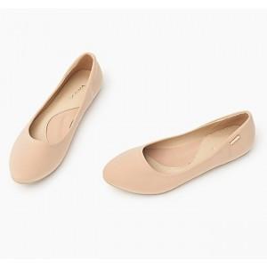 Elegantné béžové dámske baleríny