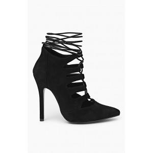 Dámske topánky s viazaním okolo nohy