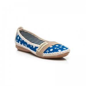 Espadrilky pre dámy v modrej farbe námornícky štýl