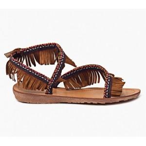 Trendy dámske sandále pre dámy v hnedej farbe