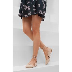 Béžové sandále dámske s tenkou podrážkou