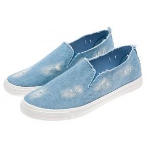 Pánske módne športové topánky v riflovom prevedení