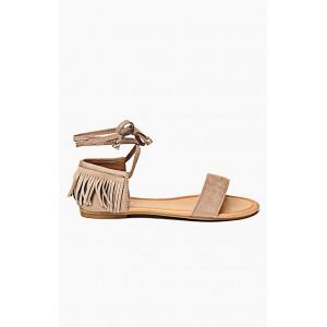 Hnedé dámske elegantné sandále