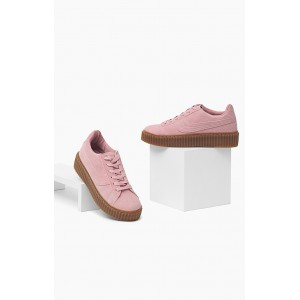 Ružová športová obuv pre dámy s hrubou podrážkou