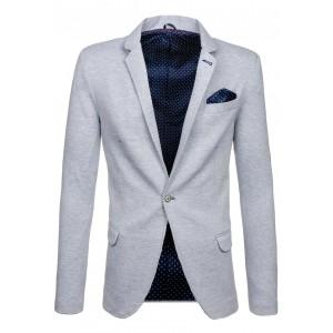 Sivé slim fit pánske sako