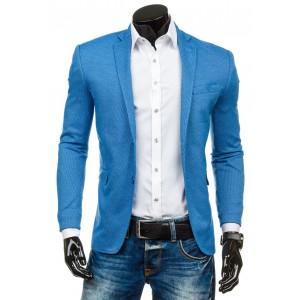 Pánske sako modrej farby so vzorom