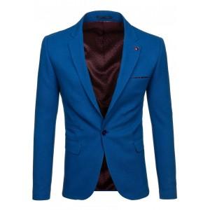 Pánske modré saká s vreckami