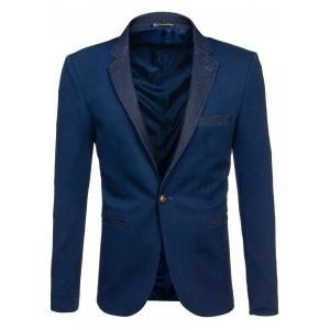 Pánske elegantné sako tmavo modrej farby